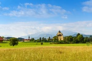 Blick auf Schloss Goldenstein