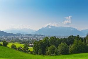 Blick vom Plainberg auf Salzburg