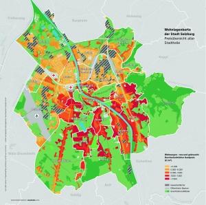 Stadtteilgenauer Überblick Immobilienpreise Salzburg-Stadt 2019