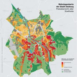 Preisüberblick Salzburger Stadtteile 2020