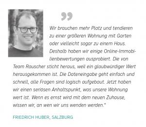 Online-Immobilienbewertung Statement Friedrich Huber